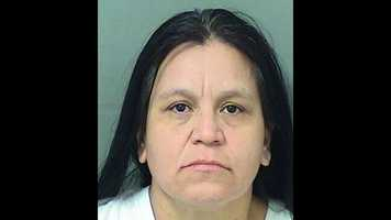 Maria Husack is facing charges of burglary to an occupied conveyance and aggravated domestic battery, according to Palm Beach County Sheriff's Office.