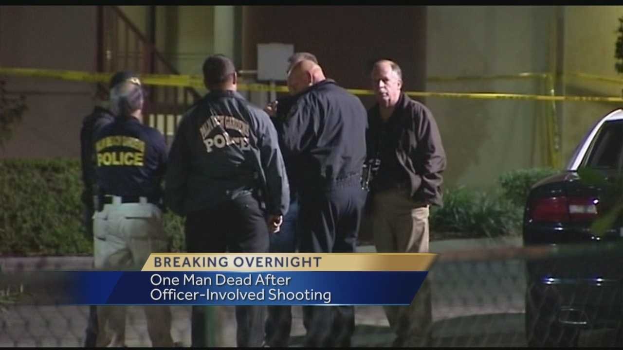 One man dead after officer-involved shooting
