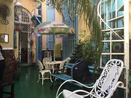 A Cuban courtyard.