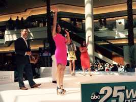 Our WPBF 25 News Mornings team waves to the fans up top awaiting Dr. Oz to take the stage!