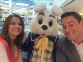 Easter bunny selfie with WPBF 25 News Morning Team anchor/reporters Stephanie Berzinski and Chris Emma.