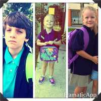 Pre-k, 1st grade and 6th grade. Son wasn't too happy I wanted to take his picture.