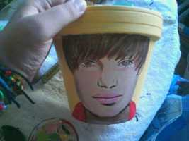 Of all the things you could've made and you go with the Bieber flower pot?