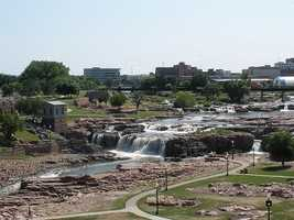 23. Sioux Falls, S.D. -- Excellent mental health and clean air are reported in this South Dakota city.