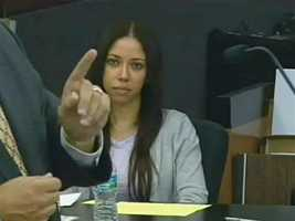 April 2011: Dalia Dippolito listens as defense attorney Michael Salnick makes his opening remarks.