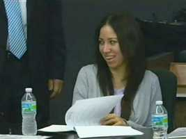 April 2011: Dalia Dippolito shares a moment with her attorneys shortly before her trial begins.
