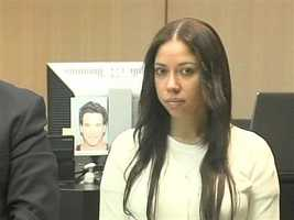 April 2011: Dalia Dippolito stares at the cameras as jury selection begins in her trial.