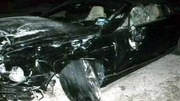 Goodman's $200,000 Bentley was totaled in the crash.
