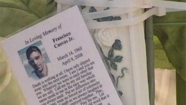 Francisco Cuevas Jr. is remembered in this memorial where his partial remains were found in a steel box in Palm Beach Gardens.