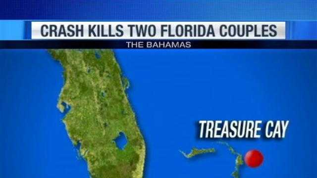 A small plane that was supposed to arrive in Fort Pierce crashes after leaving the Bahamas, killing two Florida couples.
