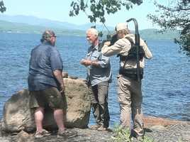 Jeremy Wade, host of River Monsters, was fishing on Lake Champlain in Panton, Vermont.