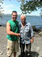 Jeremy Wade, host of River Monsters, was in fishing on Lake Champlain in Panton, Vermont. Seth Decker, a New York resident, caught up with him.