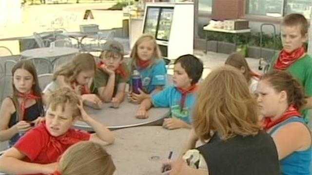 On TV camp kids