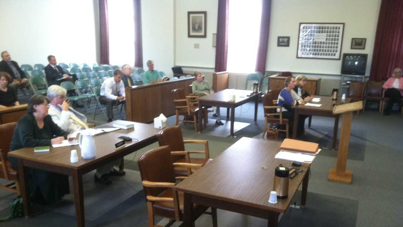Martha Abbott, Annette Smith and state elections chief Kathy Scheele in court
