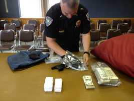 Evidence laid out in Malone drug bust.