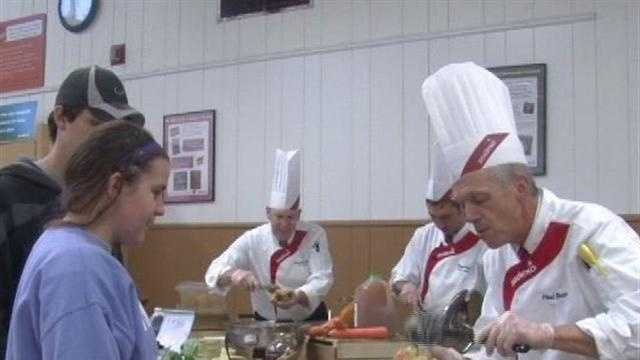 Vt. college dining hall goes gourmet for a day