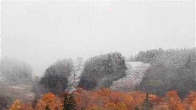 It may have looked like autumn in much of Vermont on Columbus Day, but at the Stowe Mountain Resort, it was winter.
