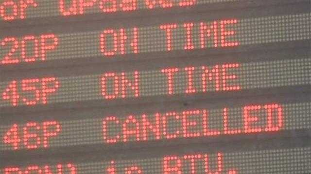 Multiple flights still canceled out of Burlington airport