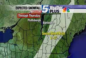 Storm expected to move south to north with snow, sleet and rain accumulating to 1-to-3 inches.