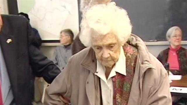 Voting in Orford, N.H. paused briefly Tuesday morning for applause. Polling place volunteers and townspeople cheered the woman believed to be the Granite State's oldest voter at 106.