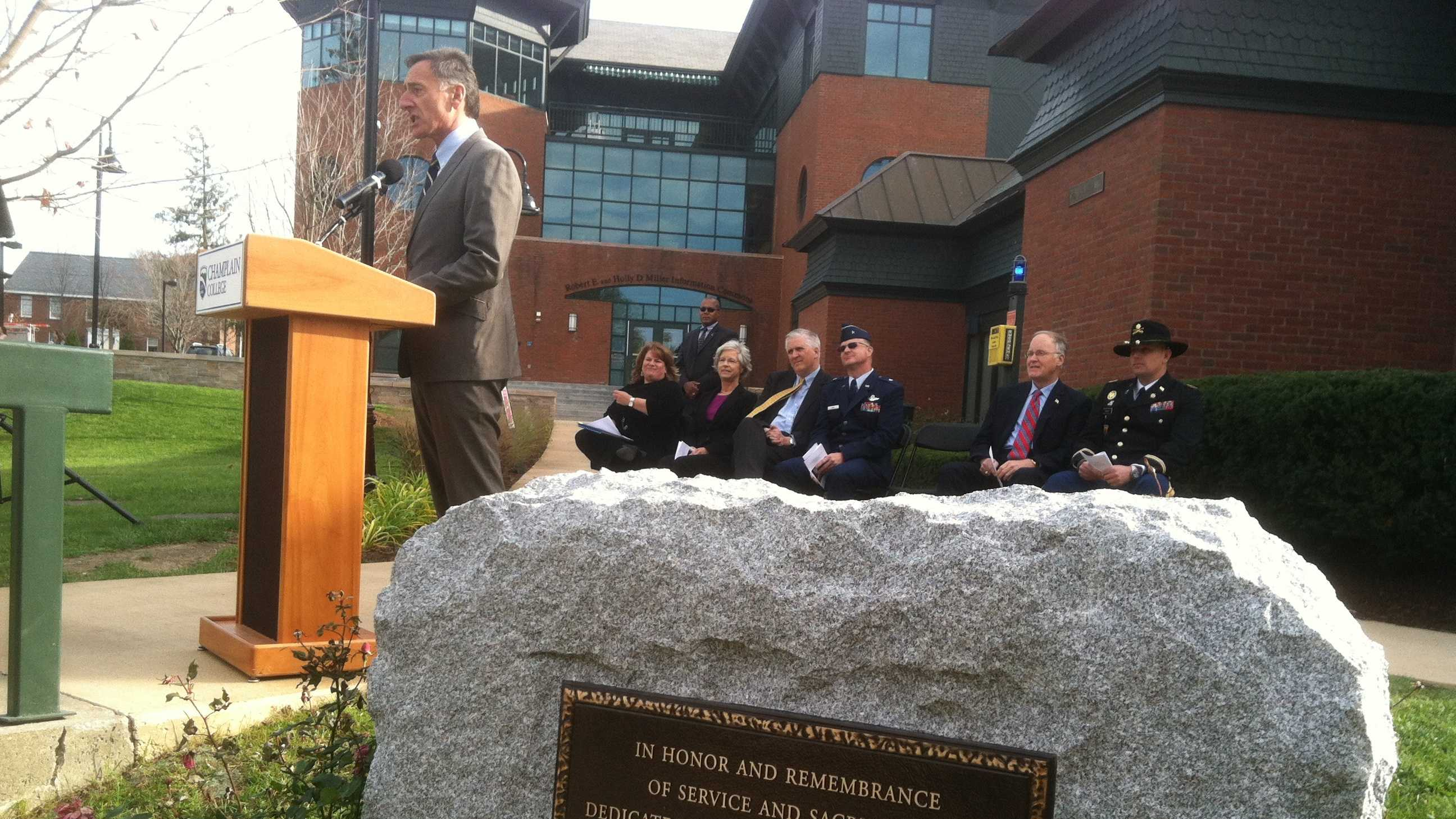 111212 Vt. college unveils new monument to student veterans - img