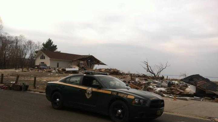 Vermont State Police return from Hurricane Sandy recovery efforts. Photo courtesy of Vermont State Police