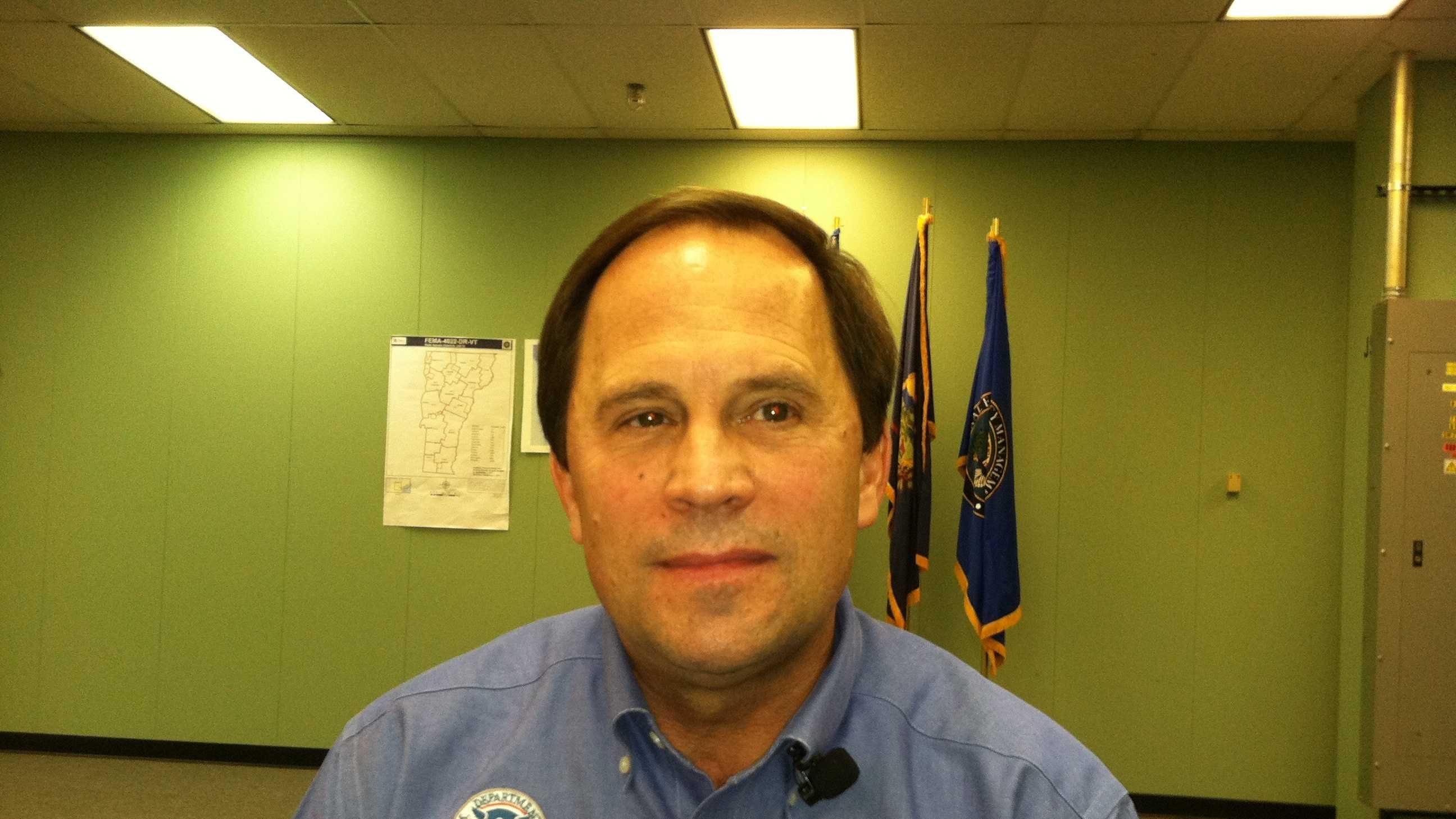 Mark Landry, FEMA's coordinating officer in Vermont