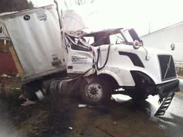 Truck involved in Chester crash.