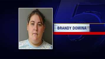 Brandy Domina is charged with two counts of accessory to assault and robbery, two counts of accessory to burglary, one count each of burglary and petit larceny. Domina is being held on $75,000 bail.