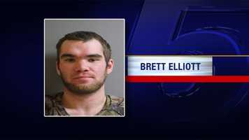 Brett Elliott is charged with two counts of accessory to assault and robbery, two counts of accessory to burglary, one count of burglary and one count of petit larceny. Additional charges for drug possession – including marijuana and prescription narcotics will be filed at a later date. He's being held on $35,000 bail.
