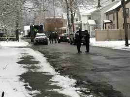 Authorities closed Pleasant Street, Bennington, Vermont on Wednesday.
