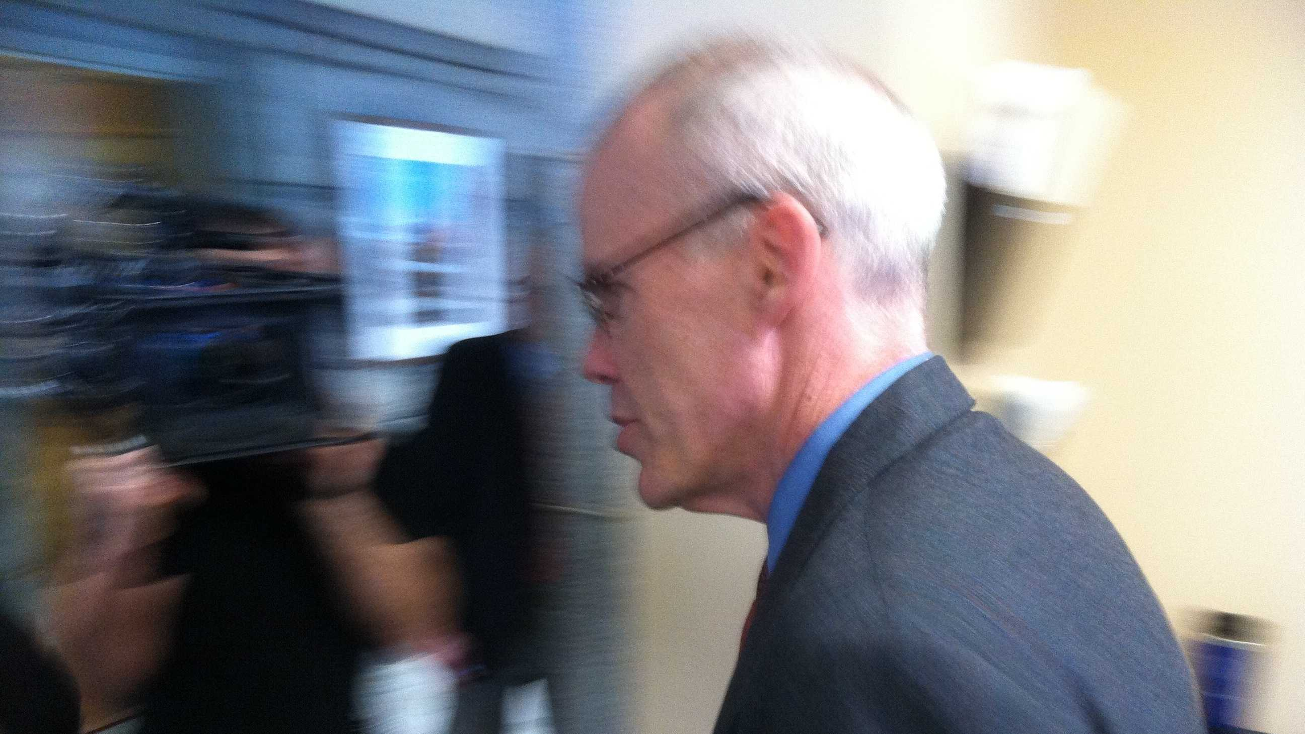 Middlebury College lecturer and author Bill McKibben at the Statehouse Wednesday.
