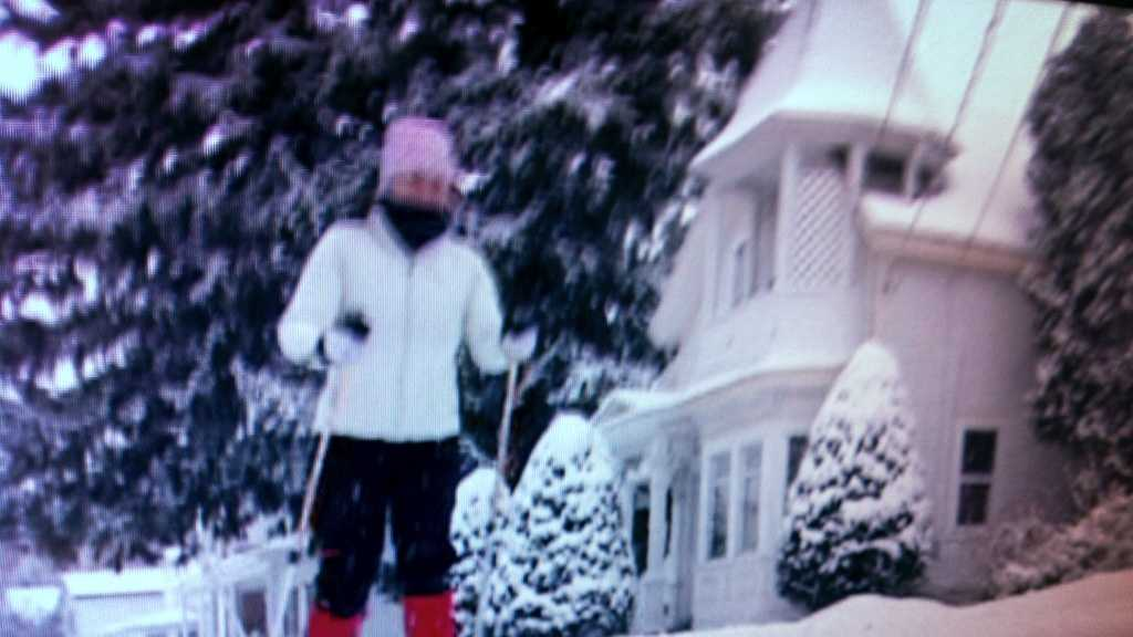 Kristine Harootunian was taking the snowfall in stride. Sheturned and Winooski's city streets into cross-country ski trails.
