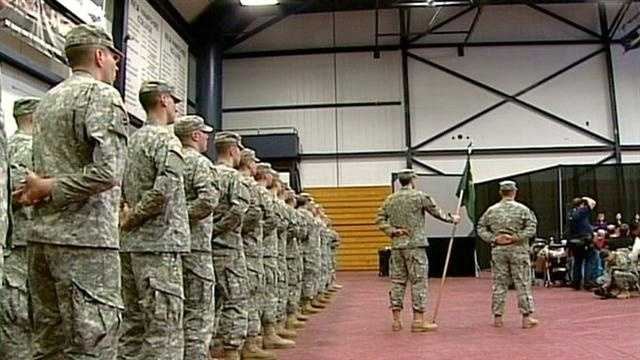 The men and women of the New Hampshire Army National Guard's 237th Military Police Company held their official deployment ceremony on Sunday.