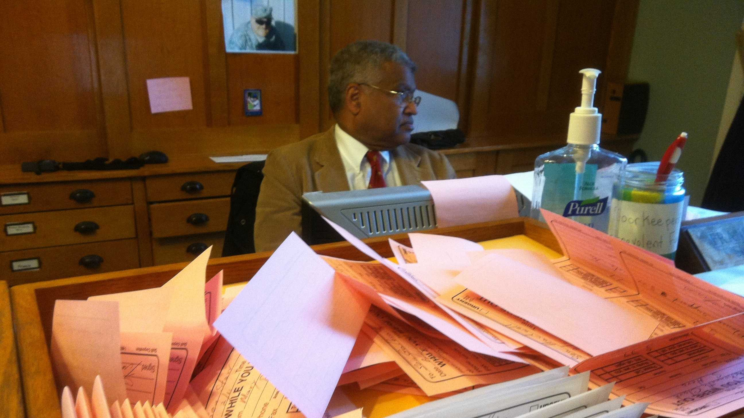 Sergeant at Arms Francis Brooks Taking Calls