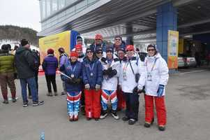 Josh Beaupre and some of his Special Olympics Team USA cross country teammates after an awards ceremony