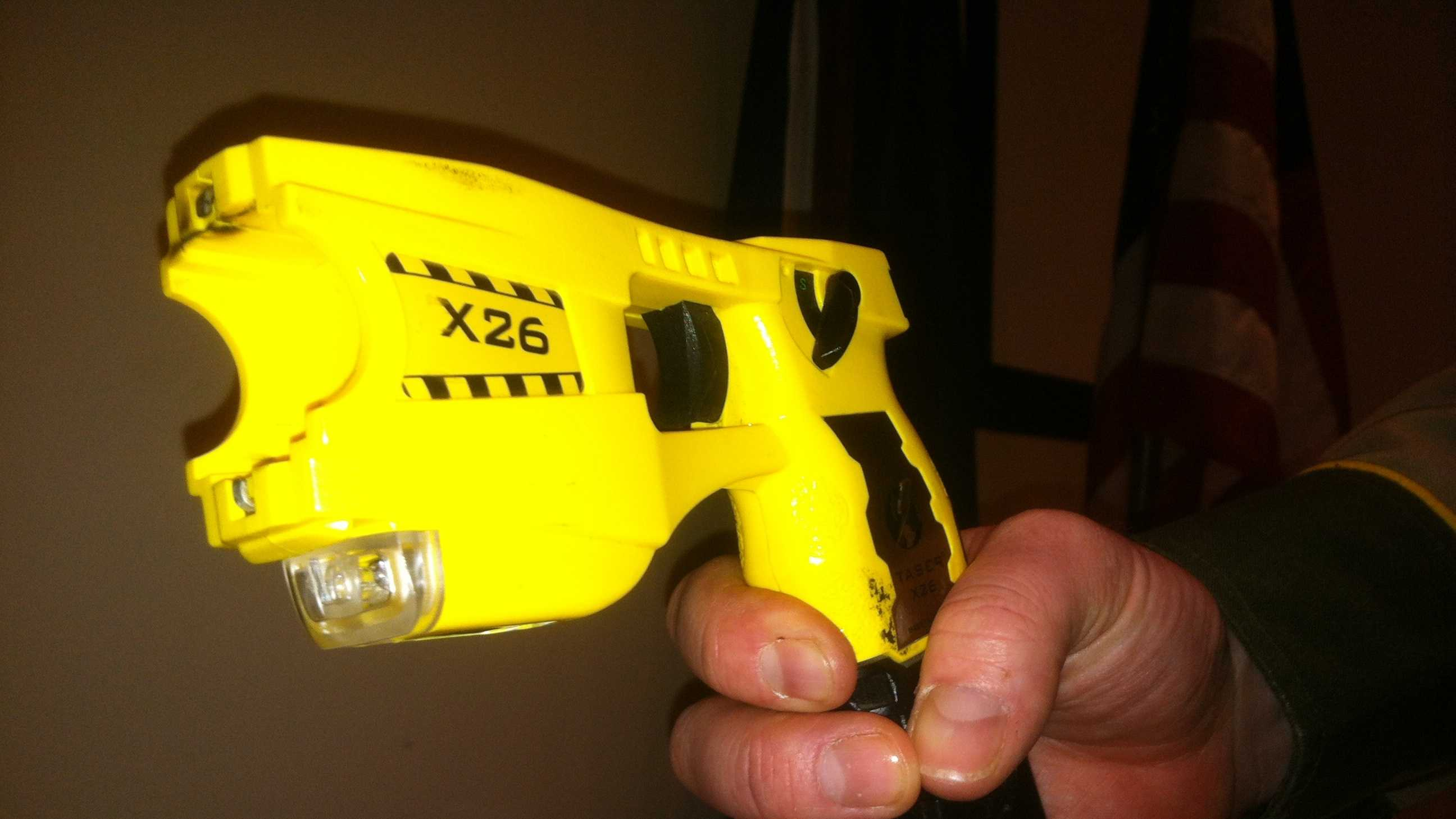 Taser gun held by trooper