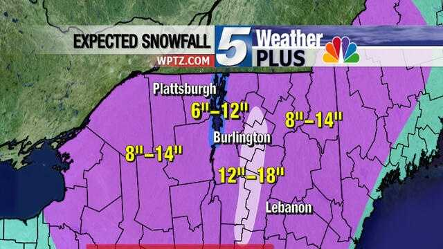 March 18th snow totals pred