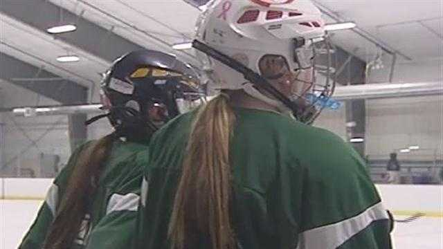 The U16 girl's hockey team prepares for their national championship trip to California.