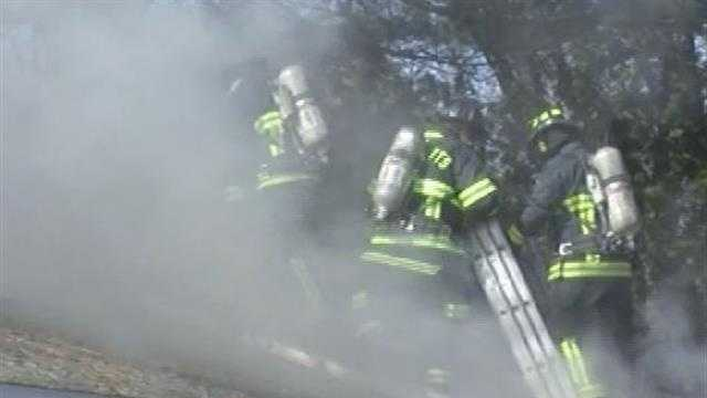 Colchester mobile home fire