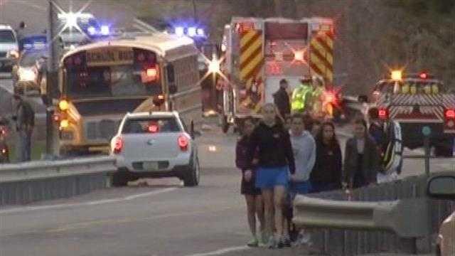 04-17-13 Essex, Vt., woman dead after school bus, cruiser crash - img