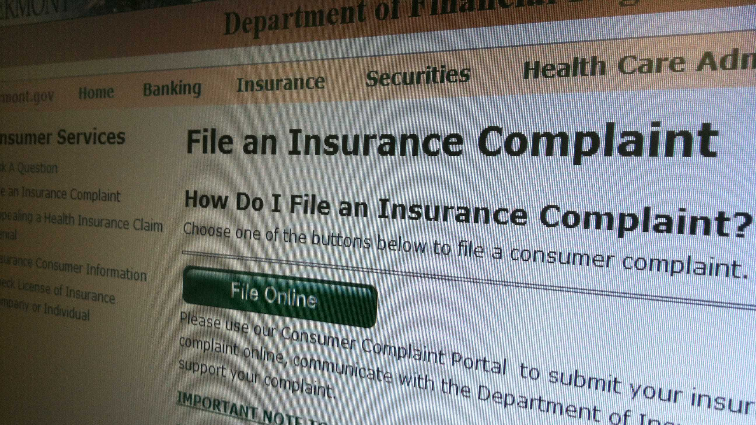 04-23-13 Online option to file Vt insurance complaints - img