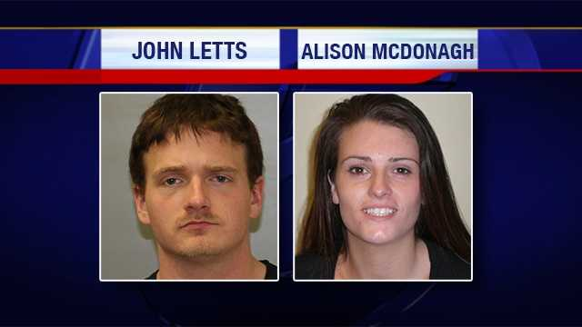 John Letts, 26, and 25-year-old Alison Sault-McDonagh, both of Plattsburgh, are accused of stealing $8,000 in electronics from Walmart in Plattsburgh. Each face grand larceny, criminal mischief and stolen property charges.