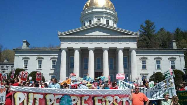 May Day rally in Montpelier