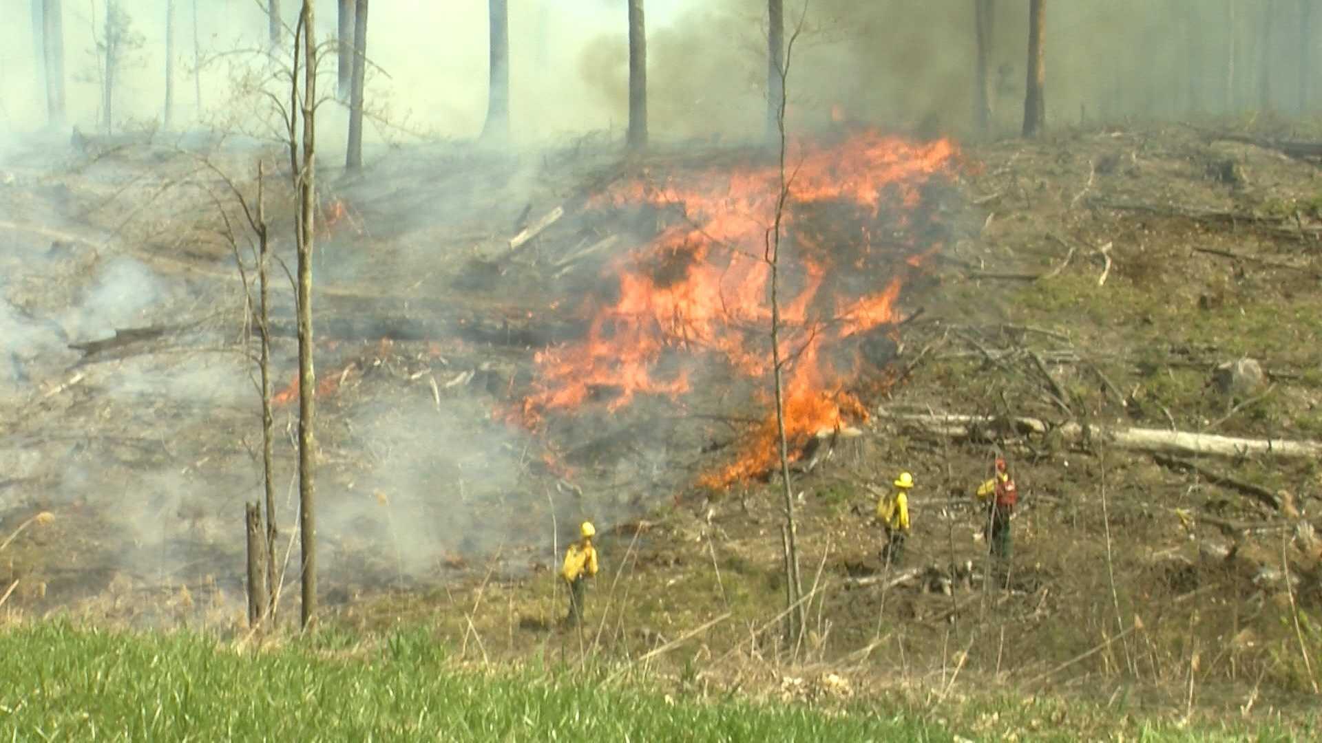 VTANG crews set fire to 15-acre plot