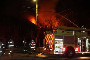 Three Vermont firefighters were injured when a tank of welding gas exploded during a fire on Friday that destroyed a home and art gallery in Morrisville. Photos courtesy of Mickey Smith/News & Citizen.