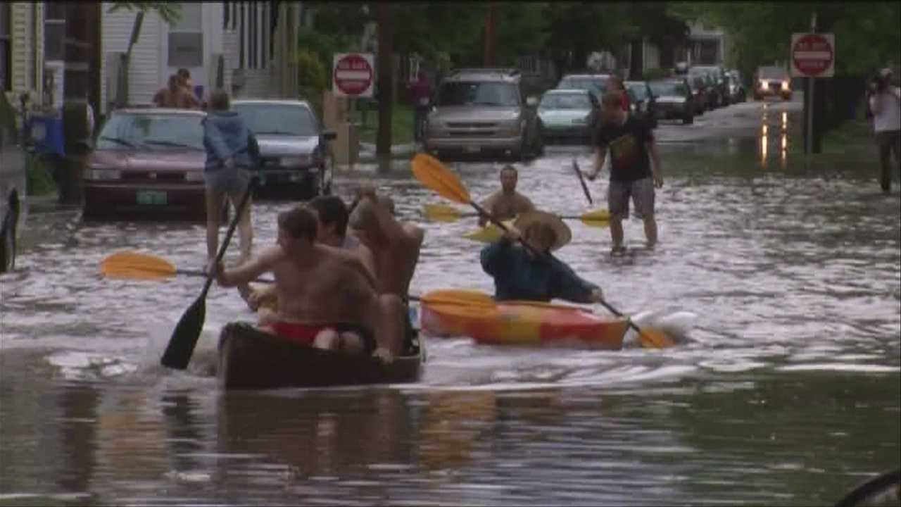 Severe thunderstorms produced a good amount of rain Wednesday afternoon, sending some people out onto the water.