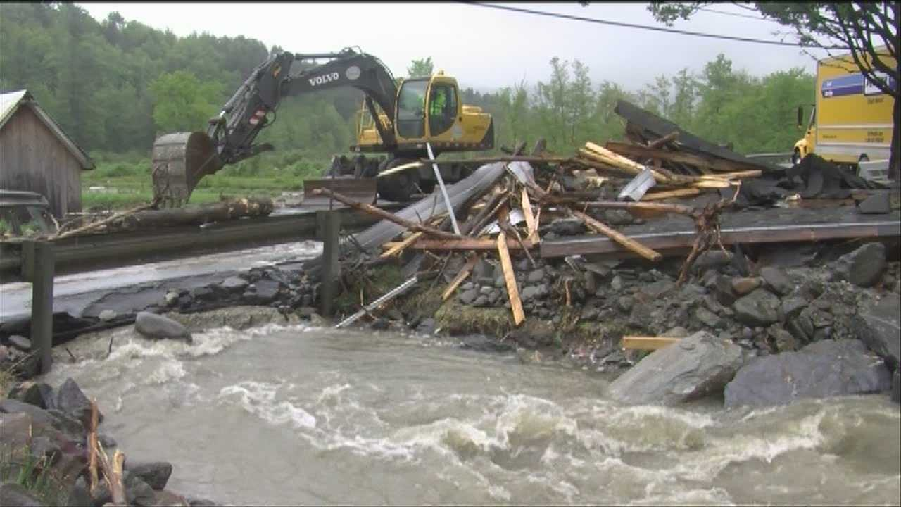 Route 15, home damaged when garage washes away