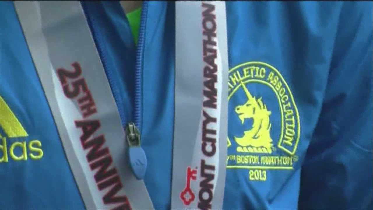 The Vermont City Marathon is the first major race in New England since two bombs exploded at the Boston Marathon last month. Vermont marathon leaders invited runners from Boston who did not get to finish their race to come to the Green Mountain State to run for free.