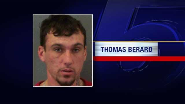 Thoma Berard was charged with attempted murder, first degree aggravated domestic assault and burglary after Burlington Police say he broke into his estranged partner's home and choked her with his shirt.